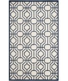 RugStudio presents Safavieh Amherst Amt416m Ivory / Navy Machine Woven, Good Quality Area Rug