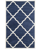 RugStudio presents Safavieh Amherst Amt421p Navy - Beige Machine Woven, Good Quality Area Rug