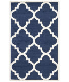 RugStudio presents Safavieh Amherst Amt423p Navy - Beige Machine Woven, Good Quality Area Rug