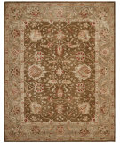 RugStudio presents Safavieh Anatolia AN512F Brown / Green Hand-Tufted, Good Quality Area Rug