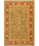 RugStudio presents Safavieh Anatolia AN523A Green / Red Hand-Tufted, Best Quality Area Rug