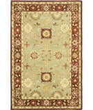 RugStudio presents Safavieh Anatolia An556a Sage / Burgundy Hand-Tufted, Good Quality Area Rug
