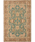 RugStudio presents Safavieh Anatolia An558d Teal / Camel Hand-Tufted, Best Quality Area Rug