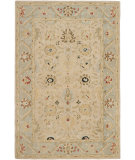 RugStudio presents Safavieh Anatolia An569c Natural / Soft Turquoise Hand-Tufted, Best Quality Area Rug