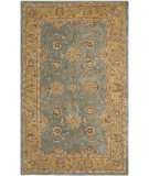 RugStudio presents Safavieh Anatolia An580g Blue / Green Hand-Tufted, Good Quality Area Rug
