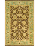 RugStudio presents Safavieh Antiquities AT21G Brown / Green Hand-Tufted, Best Quality Area Rug