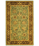 RugStudio presents Safavieh Antiquities AT21H Green / Brown Hand-Tufted, Best Quality Area Rug