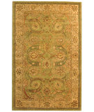 RugStudio presents Safavieh Antiquities AT24A Green / Ivory Hand-Tufted, Best Quality Area Rug