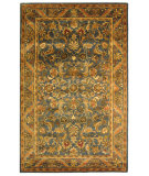 RugStudio presents Rugstudio Sample Sale 49643R Blue / Gold Hand-Tufted, Best Quality Area Rug
