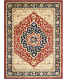 RugStudio presents Safavieh Austin AUS1580-4070 Red / Navy Machine Woven, Good Quality Area Rug