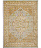 RugStudio presents Safavieh Austin AUS1580-7920 Light Grey / Gold Machine Woven, Good Quality Area Rug