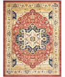 RugStudio presents Safavieh Austin AUS1590-4011 Red / Creme Machine Woven, Good Quality Area Rug