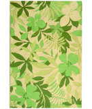 RugStudio presents Rugstudio Sample Sale 49651R Beige / Green Hand-Hooked Area Rug