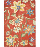 RugStudio presents Safavieh Blossom Blm673a Rust / Multi Hand-Hooked Area Rug