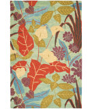 RugStudio presents Safavieh Blossom Blm674a Blue / Multi Hand-Hooked Area Rug
