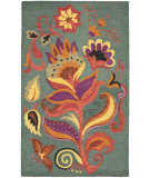 RugStudio presents Safavieh Blossom Blm679a Blue / Multi Hand-Hooked Area Rug