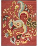 RugStudio presents Safavieh Blossom BLM680B Rust / Multi Hand-Hooked Area Rug