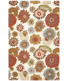 RugStudio presents Rugstudio Sample Sale 63113R Ivory / Multi Hand-Hooked Area Rug