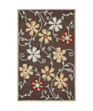 RugStudio presents Safavieh Blossom Blm784a Brown / Multi Hand-Hooked Area Rug