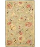 RugStudio presents Safavieh Blossom Blm785a Green / Multi Hand-Hooked Area Rug