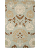 RugStudio presents Safavieh Blossom BLM787A Blue / Multi Hand-Hooked Area Rug