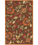 RugStudio presents Safavieh Blossom Blm861a Brown / Multi Hand-Hooked Area Rug