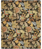 RugStudio presents Safavieh Blossom BLM863C Black / Multi Hand-Hooked Area Rug