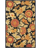 RugStudio presents Rugstudio Sample Sale 61168R Black / Multi Hand-Hooked Area Rug