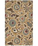 RugStudio presents Rugstudio Sample Sale 61170R Beige / Multi Hand-Hooked Area Rug