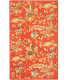 RugStudio presents Safavieh Blossom BLM913A Rust / Multi Hand-Hooked Area Rug