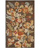 RugStudio presents Safavieh Blossom Blm915a Brown / Multi Hand-Hooked Area Rug