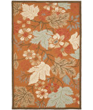 RugStudio presents Safavieh Blossom Blm917a Rust / Multi Hand-Hooked Area Rug