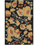 RugStudio presents Safavieh Blossom Blm918a Black / Multi Hand-Hooked Area Rug