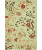 RugStudio presents Safavieh Blossom Blm919a Light Green / Multi Hand-Hooked Area Rug