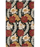 RugStudio presents Safavieh Blossom Blm921a Black / Multi Hand-Hooked Area Rug