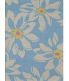 RugStudio presents Safavieh Blossom BLM924A Light Blue / Ivory Hand-Hooked Area Rug