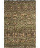 RugStudio presents Safavieh Bohemian Boh623a Green - Brown Hand-Knotted, Better Quality Area Rug