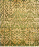 RugStudio presents Safavieh Bohemian Boh631a Green / Gold Sisal/Seagrass/Jute Area Rug