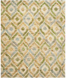 RugStudio presents Safavieh Bohemian Boh633a Bleach / Blue Sisal/Seagrass/Jute Area Rug