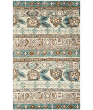 RugStudio presents Safavieh Bohemian Boh636a Bleach / Gold Hand-Knotted, Better Quality Area Rug