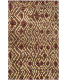 RugStudio presents Safavieh Bohemian Boh637a Brown / Gold Hand-Knotted, Better Quality Area Rug