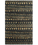 RugStudio presents Safavieh Bohemian Boh653a Black - Gold Sisal/Seagrass/Jute Area Rug