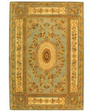 RugStudio presents Safavieh Bergama BRG174A Light Blue / Ivory Hand-Tufted, Best Quality Area Rug