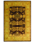 RugStudio presents Safavieh Bergama BRG190B Brown / Green Hand-Tufted, Best Quality Area Rug