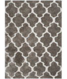 RugStudio presents Safavieh Barcelona Shag Bsg319b Silver / White Area Rug