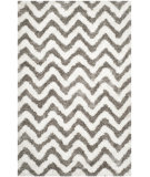 RugStudio presents Safavieh Barcelona Shag Bsg320a White / Silver Area Rug