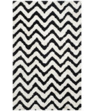 RugStudio presents Safavieh Barcelona Shag Bsg320c White / Black Area Rug