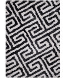 RugStudio presents Safavieh Barcelona Shag Bsg323d Graphite / White Area Rug