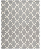 RugStudio presents Rugstudio Sample Sale 80385R Silver / Ivory Hand-Tufted, Good Quality Area Rug