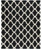 RugStudio presents Safavieh Cambridge CAM121E Black / Ivory Hand-Tufted, Good Quality Area Rug